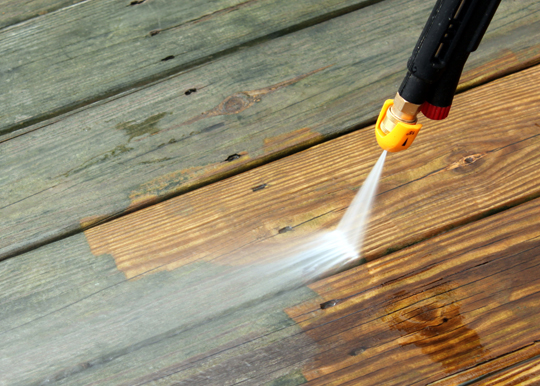 Tips For Power Washing A Painted Deck