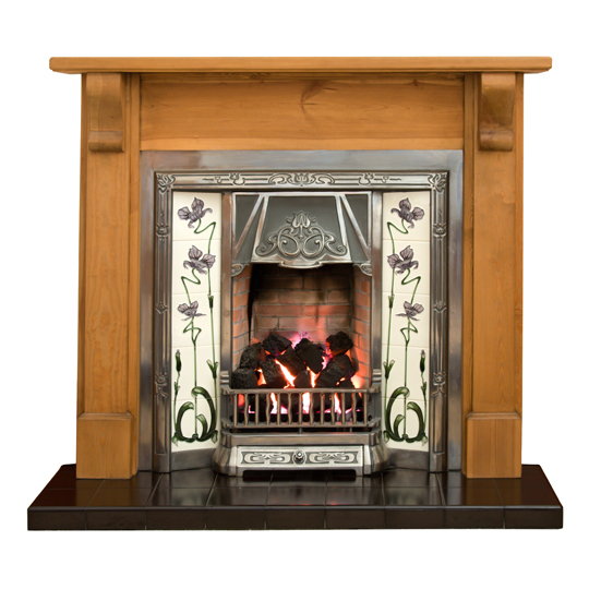 Clean Cast Iron Fireplace