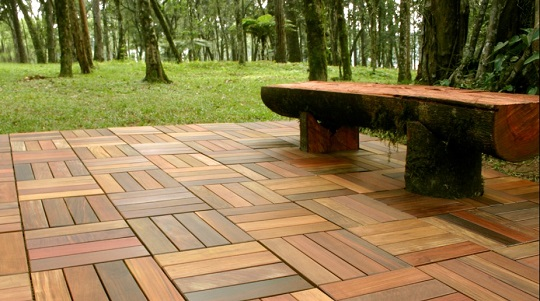 Patio Pavers Wood : Tips when buying wood patio tiles landscapers talk