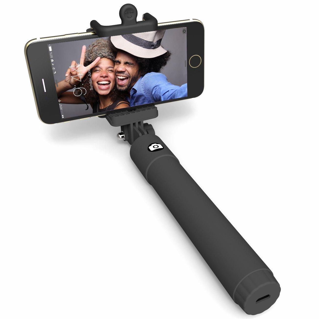 black selfie stick